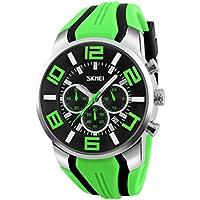 NICERIO Reloj electrónico Multifuncional Relojes de Pulsera Impermeables al Aire Libre Relojes Deportivos (Verde)