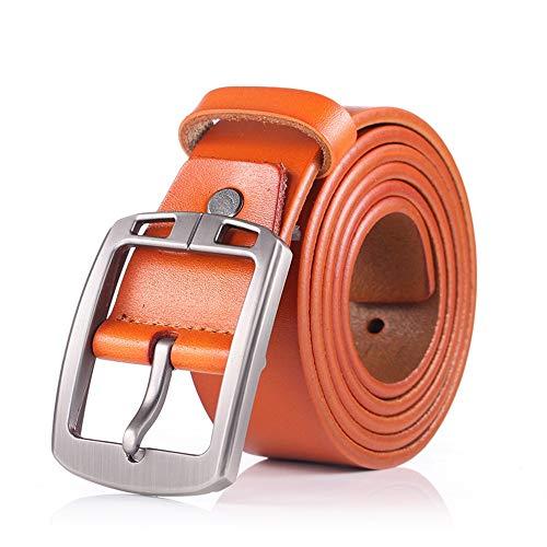 YHDD Casual Ledergürtel für Herren (Farbe : Yellow Brown, größe : 120cm)