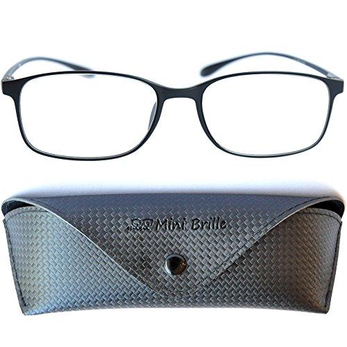 Flexible Brille mit Ovalen Gläsern – Leichte & Flexible Lesebrille | TR 90 Rahmen (Schwarz) |...
