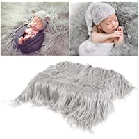 OULII Foto de bebé accesorios piel suave edredón tapete fotográfico bebé DIY fotografía foto abrigo de