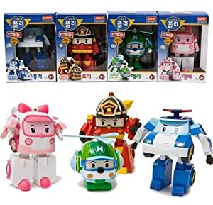 Robocar Poli Toy - Poli/Helli/Roi/Amber (4 packages)-TV Animation (Transformer)
