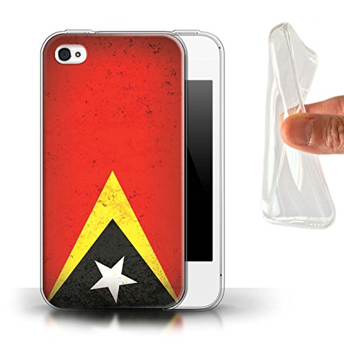 Stuff4 Gel TPU Hülle / Case für Apple iPhone 7 Plus / Philippinen Muster / Asien Flagge Kollektion Timor-Leste/Timorese
