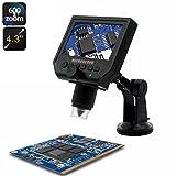 HD Digital Microscope - 600x Zoom, 4.3-I...