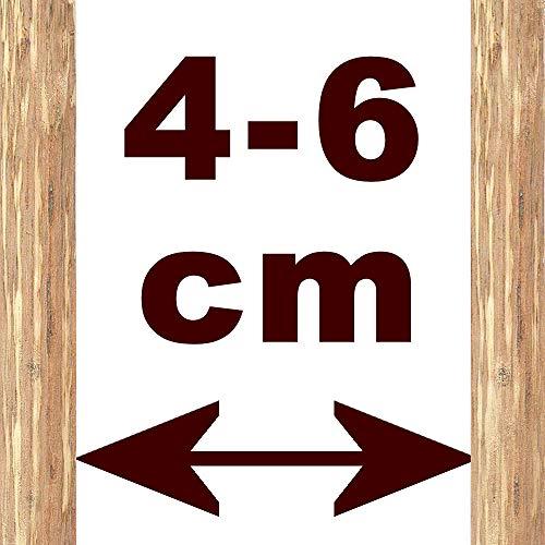 Floranica® – Imprägnierter Staketenzaun, getackert 14 Größen mit gut gespaltenen Stäben sicheren Spitzen als Gartenzaun Weidezaun Holzzaun Haselnußholz Länge: 5m