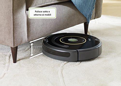 confronta il prezzo iRobot Roomba 650 Robot Aspirapolvere, Sistema di Pulizia ad Alte Prestazioni con Dirt Detect, Adatto a Pavimenti e Tappeti, Ottimo per i Peli Degli Animali Domestici, Programmabile, Nero miglior prezzo