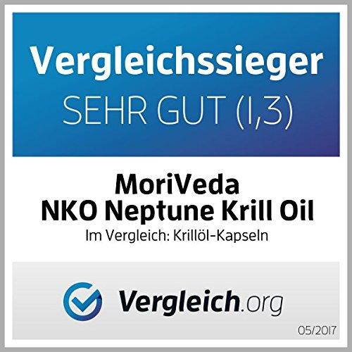 NKO Krill oil capsules (test winner) 30, 90 or 180 pcs. in pharmacy quality from MoriVeda – Omega 3,6,9 astaxanthin, vitamin E, choline, phospholipids, krilloil (90 softgels)