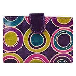 Anekaant Natura Women Genuine Leather Purple and Multicolor Wallet