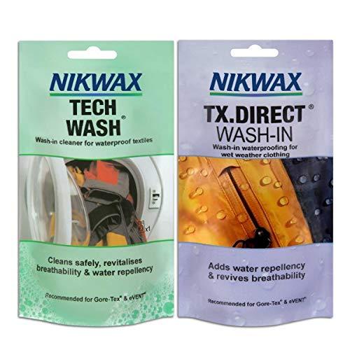 Nikwax Tech Wash & TX Direct Wash 150ml Twin Pack -