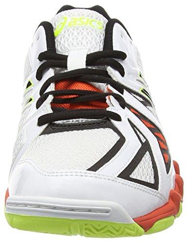Asics Gel-blade 5, Chaussures de Squash Homme Blanc (white/black/cherry tomato 0190)