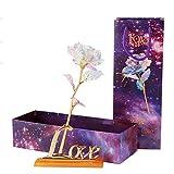 Artbro Goldfolie Rose Konservierte Blumen 24K Gold Rose für Kreative Muttertagsgeschenk Hausgarten Dekoration Handwerk