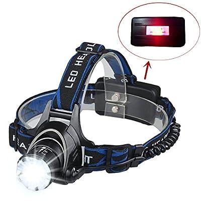 SWAMPLAND LED Stirnlampe Wasserdicht 1000LM XML-T6 Kopflampe Verwenden Sie 18650 Akkus für Joggen, Laufen, Camping, Angeln, Jagen