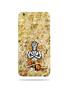alDivo Premium Quality Printed Mobile Back Cover For Apple iPhone 6 / Apple iPhone 6 Printed Hanuman Ji / Bajrangbali Mobile Case / Cover (MKD073)