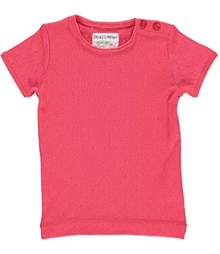 Phister & Philina Mädchen DITA Pointelle Organic T-Shirt, Rot Berry Tea, 92 Baby-pointelle