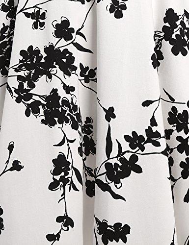 MicBridal®robe de rockabilly courte robe vintage années 50 Classique Vintage 1950S Style pour femme Robe de Cérémonie Soirée Cocktail Dessin fleur 7