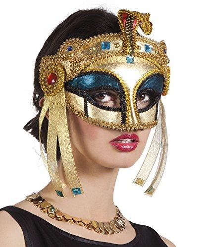 Halloweenia - Kostümzubehör Gesichtsmaske Cleopatra , Mehrfarbig (Cleopatra Kostüm Augen Make Up)