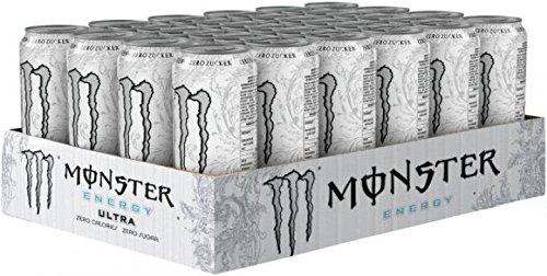 Monster Energy Zero Ultra, 24er Pack (24 x 500 ml) (ohne Pfand, Lieferung nur nach Österreich)