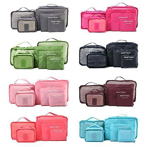 wlgreatsp Bolsas de almacenamiento de viaje Ropa impermeable Embalaje Juego de equipaje de cubo ordenado