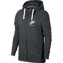 Nike W NSW GYM Vntg Hoodie FZ Sudadera, Mujer, Gris (Anthracite/Sail), 2XL