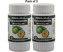 Herbal Hills Garciniahills 60 Capsule Pack of 2 Garcinia cambogia Natural weight loss - 400 mg Powder and Extract blend - in a capsule