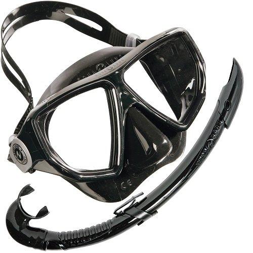 Aqua Lung Sport, Oyster Maske Und Schnorchel Airflex Combo,Schwarz, Gr.M/L (Oyster Glas)