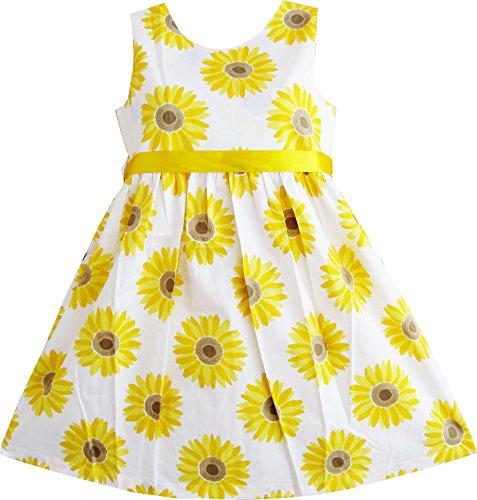 Mädchen Kleid Gelb Sonnenblume Schule Uniform Gr.110 (Mädchen In Gelben Kleid)