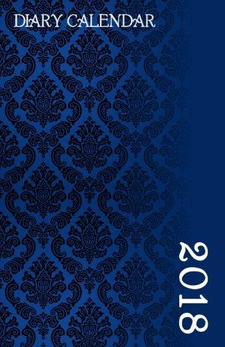 Diary Calendar: Blue Damask