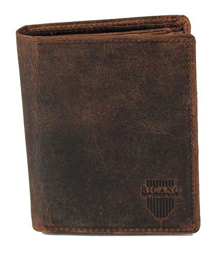 MAEL von RICANO, Geldbörse aus Rind Nappa Echtleder in vintage (Billig Geldbörsen Guess)