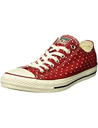 f17e58db22c5 Converse Men s Chuck Taylor Perforated Stars Low Top Sneaker Gym Red Garnet Athletic  Navy