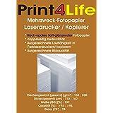 50 hojas A4 en ambos lados semi-alto brillo (Soft - Glossy) 200g / m²; Papel fotográfico de alta suave opaca brillante para la impresión a doble cara. • Certificados • Folletos • Menús • La foto imprime • Informes.