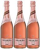 HENKELL Sekt Rosé (3 x 0.75 l) ǁ Cuvée ǀ trockener Sekt ǀ Prickelnder und fruchtiger Sektgenuss aus klassischen Rebsorten