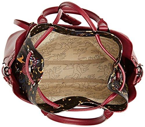 piero guidi 216371082, Borsa a Tracolla Donna, 33 x 23 x 16 cm (W x H x L) Viola (Prugna)