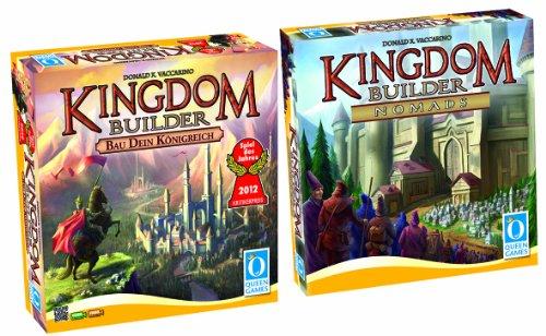 Queen Games 0521 - Kingdom Builder Bundle - Spiel des Jahres 2012 und Erweiterung 1 Nomads