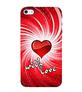 FIOBS Love With Love Symbols Designer Back Case Cover for Apple iPhone SE