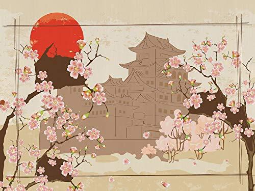 AG Design Japan, Vlies Fototapete für Wohnzimmer, Flur, Schlafzimmer, Küche, Gartenhaus, 360 x 270 cm.