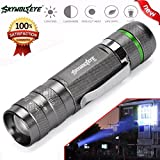 Lampes Torches,Xinan 3000LM Zoomable CREE XM-L T6 LED Super Lumineuse Zoomable Ajustable Mini Lampes Torches Commande de commodité 18650 Rechargeable (Noir, 1 PC)