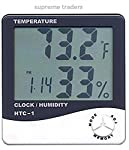 The HTC displays Current temperature, relative humidity, and current time - all at once on a large numeral LCD display. The unit also, offers the current Date and Day at the push of button, along with Max and Min temperature readings, perfect for hom...