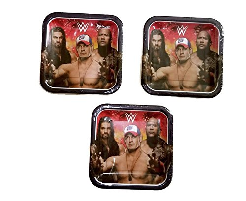 Grand Slammin 'WWE Geburtstag Party Bundle 22,9cm Teller (24) (Party Birthday Supplies Mcstuffins Doc)