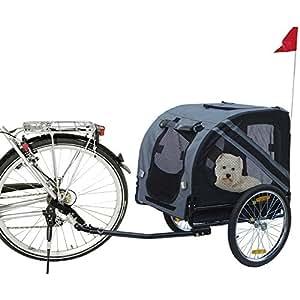 Karlie 31605 Remorque de vélo pour chien Doggy Liner Economy 125 x 95 x 72 cm Gris/noir