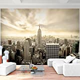 Fototapete New York 352 x 250 cm Vlies Wand Tapete Wohnzimmer Schlafzimmer Büro Flur Dekoration Wandbilder XXL Moderne Wanddeko 100% MADE IN GERMANY -Stadt City NY Runa Tapeten 9005011b