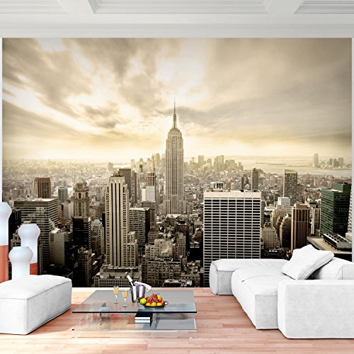 Fototapete New York Vlies Wand Tapete Wohnzimmer Schlafzimmer Büro Flur Dekoration Wandbilder XXL Moderne Wanddeko 100% MADE IN GERMANY -Stadt City NY Runa Tapeten 9005010b (Foto Ny)