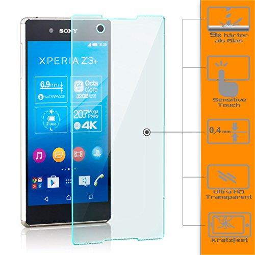 1 pellicola protettiva in vetro per sony xperia z3 plus.