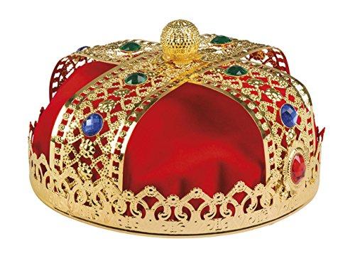 Kostüm Royal King - Boland 64550 Krone Royal King de luxe, mens, One Size