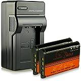 Cargador + 2x ExtremeWolf Batería NP-BX1 para Sony Cyber-shot DSC-H400 | DSC-HX300 | DSC-HX400 | DSC-HX400V | DSC-HX50 | DSC-HX50V | DSC-HX60 | DSC-HX60V | DSC-HX90 | DSC-HX90V | DSC-RX1 | DSC-RX100