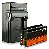 Chargeur + 2x ExtremeWolf Batterie NP-BX1 pour Sony Cyber-shot DSC-H400 | DSC-HX300 | DSC-HX400 | DSC-HX400V | DSC-HX50 | DSC-HX50V | DSC-HX60 | DSC-HX60V | DSC-HX90 | DSC-HX90V | DSC-RX1 | DSC-RX100