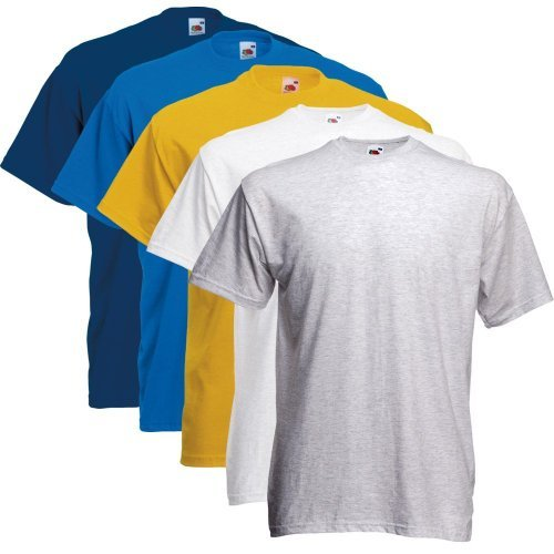 Fruit of the Loom T-Shirts 5er Pack XXL,Farbset3 - Rotes T-shirt Hanes