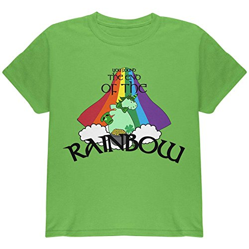 St. Patrick ES Day Unicorn Ende Des Regenbogens Irish Youth T-Shirt Kiwi YSM (T-shirt Youth Day Patricks)