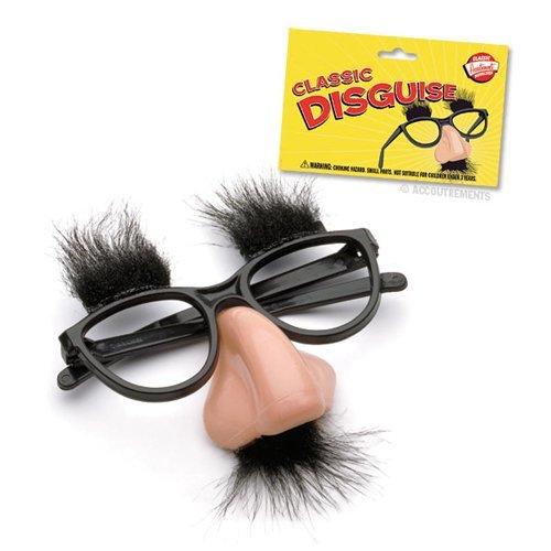 Kostüme Bart Mit (Nasenbrille mit Bart und Augenbrauen komplett)