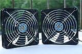 (Deux chargés)double roulement à billes longue durée de vie Le ventilateur de refroidissement chassis Fan Boitier PC refroidisseur et radiateur cpu (PWM 4-pin 12V, 140X140X25mm)