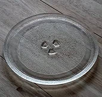 24,5 cm Universal Mikrowelle Ersatz Drehteller Glasteller Ersatzteil Microwelle Ersatzteller mit 24,5 cm Durchmesser Teller Mikrowellenteller Microwellenteller