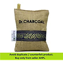 Dr. CHARCOAL Non Electric Air Purifier, Deodorizer and Dehumidifier for Cars, Bathrooms and Kitchen (200g, Pack of 3, Classic Khaki)